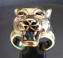 "Picture of 21 x BRONZE RINGS "" THE DEVILS PUMA "" RED CZ EYES WHOLESALE-LOT"