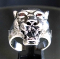 """Picture of 21 x STERLING SILVER RINGS """" THE DEVILS PUMA """" RED CUBIC CIRCONIA EYES WHOLESALE-LOT"""