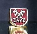 Picture of 21 x BRONZE RINGS TWO CROSSED SKELETON KEYS COAT OF ARMS REGENSBURG DARK RED WHOLESALE-LOT
