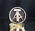 """Picture of 21 x BRONZE RINGS """"HAMMER & COMPASSES"""" EAST GERMANY GDR DDR ANTIQUED WHOLESALE-LOT"""