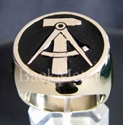 "Picture of 21 x BRONZE RINGS ""HAMMER & COMPASSES"" EAST GERMANY GDR DDR BLACK WHOLESALE-LOT"