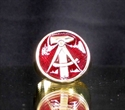 "Picture of 21 x BRONZE RINGS ""HAMMER & COMPASSES"" EAST GERMANY GDR DDR DARK RED WHOLESALE-LOT"