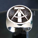 """Picture of 21 x STERLING SILVER RINGS """"HAMMER & COMPASSES"""" EAST GERMANY GDR DDR WHOLESALE-LOT"""