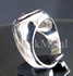 Picture of 21 x DOMED STERLING SILVER MEN'S ZODIAC SIGNET RINGS CANCER ANTIQUED WHOLESALE-LOT