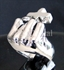 "Picture of 21 x STERLING SILVER RINGS "" ANTI CHRIST"" FIST CROSS the MIDDLE FINGER WHOLESALE-LOT"