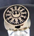 """Picture of 21 x BRONZE RINGS """" STAR WARS REBEL ALLIANCE """" NEW REPUBLIC BLACK WHOLESALE-LOT"""