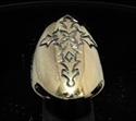 Picture of 21 x LONG BRONZE MEN'S GOTHIC RINGS CHRISTIAN CROSS ANTIQUED WHOLESALE-LOT