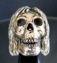 "Picture of 21 x BRONZE RINGS "" PSYCHO SKULL "" HIPPY RASTAFARI DREAD WHOLESALE-LOT"