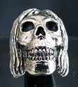 "Picture of 21 x STERLING SILVER RINGS "" PSYCHO SKULL "" HIPPY RASTAFARI DREAD WHOLESALE-LOT"