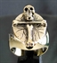 "Picture of 21 x BRONZE RINGS ""BONE CROSS"" CHRISTIANITY ANTI CHRIST SKULL WHOLESALE-LOT"