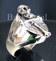 "Picture of 21 x STERLING SILVER RINGS ""BONE CROSS"" CHRISTIANITY ANTI CHRIST SKULL WHOLESALE-LOT"
