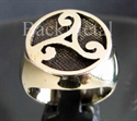 "Picture of 21 x BRONZE RINGS "" CELTIC TRIADE "" WATER POWER SYMBOL RUNE WHOLESALE-LOT"