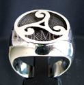"Picture of 21 x STERLING SILVER RINGS "" CELTIC TRIADE "" WATER POWER SYMBOL RUNE WHOLESALE-LOT"