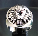 "Picture of 21 x STERLING SILVER RINGS "" ALIEN PREDATOR "" HUNTER SKULL RED CZ EYES WHOLESALE-LOT"