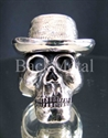 """Picture of 21 x STERLING SILVER RINGS """"SKULL WITH HAT"""" BLUES BROTHER COWBOY WHOLESALE-LOT"""