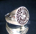 Picture of 21 x STERLING SILVER RINGS TEMPLAR KNIGHT COAT OF ARMS MEDIEVAL GOTHIC WHOLESALE-LOT