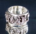 Picture of 21 x STERLING SILVER RINGS TWO 2 DRAGON COAT OF ARMS MEDIEVAL GOTHIC WHOLESALE-LOT