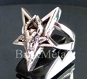 Picture of 21 x STERLING SILVER RINGS DIABOLO HELL GOAT HEAD PENTAGRAM PENTACLE WHOLESALE-LOT