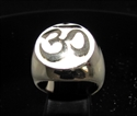Picture of 21 x BRONZE MEN'S SIGNET RINGS AUM OM OHM SYMBOL BUDDHISM MEDITATION WHITE WHOLESALE-LOT