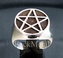 Picture of 21 x STERLING SILVER RINGS PENTACLE PENTAGRAM FLAT SOLID LINE WHOLESALE-LOT