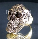 Picture of 21 x BRONZE RINGS DIABOLO HELL SKULL WITH CELTIC TATOOS WHOLESALE-LOT