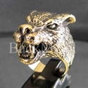 Picture of 21 x BRONZE RINGS AMERICAN WEREWOLF GOTHIC LOBO WOLF WHOLESALE-LOT
