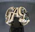"Picture of 21 x BRONZE LADY RINGS  "" GAGA "" BOLD LETTERS ONE WORD WHOLESALE-LOT"