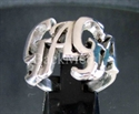 "Picture of 21 x STERLING SILVER LADY RINGS  "" GAGA "" BOLD LETTERS ONE WORD WHOLESALE-LOT"