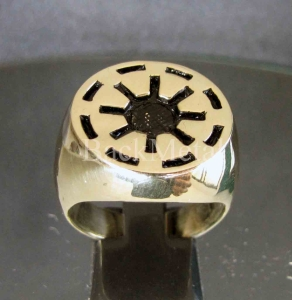 Picture of 21 x BRONZE RINGS CLONE WARS GALACTIC REPUBLIC COAT OF ARMS STAR WHOLESALE-LOT