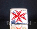 Picture of 21 x STERLING SILVER RINGS MALTESE CROSS CRUSADER MALTA INLAY RED WHOLESALE-LOT