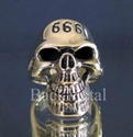 Picture of 21 x BRONZE RINGS PHANTOM SKULL STREETFIGHTER 666 WHOLESALE-LOT