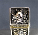 "Picture of 21 x BRONZE RINGS "" MALTESE CROSS SKULL "" BIKER CHOPPER WHOLESALE-LOT"