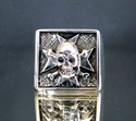 "Picture of 21 x STERLING SILVER RINGS "" MALTESE CROSS SKULL "" BIKER CHOPPER WHOLESALE-LOT"