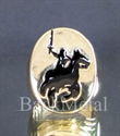Picture of 21 x BRONZE RINGS KNIGHT ON HORSE BLACK WHOLESALE-LOT