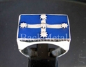 Picture of 21 x STERLING SILVER RINGS EUREKA FLAG AUSSIE DARK BLUE WHOLESALE-LOT