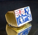 Picture of 21 x BRONZE RINGS AUSTRALIA FLAG AUSSIE BLUE RED WHOLESALE-LOT