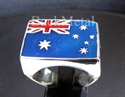 Picture of 21 x STERLING SILVER RINGS AUSTRALIA FLAG AUSSIE BLUE RED WHOLESALE-LOT