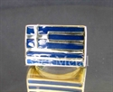 Picture of 21 x BRONZE RINGS GREECE FLAG GREEK BLUE WHOLESALE-LOT