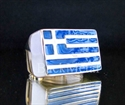 Picture of 21 x STERLING SILVER RINGS GREECE FLAG GREEK BLUE WHOLESALE-LOT