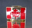 Picture of 21 x BRONZE RINGS CANADA FLAG CANADIAN MARPLE LEAF RED WHOLESALE-LOT