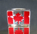 Picture of 21 x STERLING SILVER RINGS CANADA FLAG CANADIAN MARPLE LEAF RED WHOLESALE-LOT