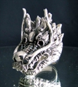 Picture of 21 x STERLING SILVER RINGS BIG DRAGON HEAD RED GARNET EYES WHOLESALE-LOT