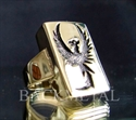Picture of 21 x RECTANGLE BRONZE RINGS PHOENIX FROM THE ASHES FIREBIRD WARBIRD WHOLESALE-LOT