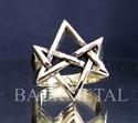 Picture of 21 x BRONZE RINGS UNICURSAL HEXAGRAM HEXAGON DEVIL SYMBOL SATANAS WHOLESALE-LOT