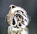 Picture of 21 x STERLING SILVER RINGS FANCY VICIOUS BULLDOG SPIKE PITBULL BULLY WHOLESALE-LOT