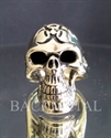 Picture of 21 x BRONZE RINGS RING TOXIC WASTE RESIDENT EVIL SKULL WARNING MC POISON WHOLESALE-LOT