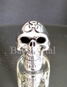 Picture of 21 x STERLING SILVER RINGS TOXIC WASTE RESIDENT EVIL SKULL WARNING MC POISON WHOLESALE-LOT