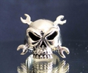 Picture of 21 x BRONZE RINGS HELLS MECHANIC SKULL CROSSED WRENCHES TOTENKOPF MC WHOLESALE-LOT