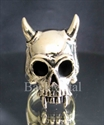 Picture of 21 x BRONZE BIKER RINGS LONG HORN VAMPIRE SKULL TOTENKOPF EMO WHOLESALE-LOT