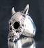 Picture of 21 x ARTWORK STERLING SILVER BIKER RINGS LONG HORN VAMPIRE SKULL TOTENKOPF EMO WHOLESALE-LOT